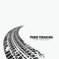 neumáticos sucios huellas desvaneciéndose en el horizonte