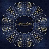 Mandala con estilo en diseño premium.