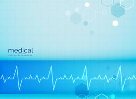 fundo mecial com batimento cardíaco de eletrocardiograma