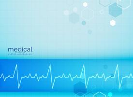 speciale achtergrond met elektrocardiogram hartslag
