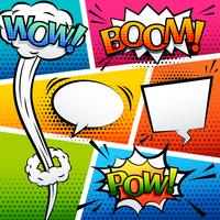 comic sound effect speech bubble pop art cartoon style vector