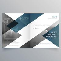 business bifold brochure flyer leaflet magazine cover page desig