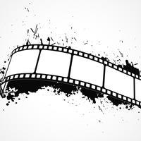 Fondo abstracto grunge con tira de película