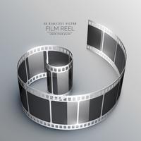 Fundo de vetor de tira de filme 3D