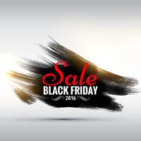 abstract grunge style black friday sale poster with paint stroke