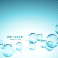 blue water bubbles vector background