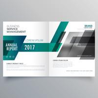 Plantilla de diseño de folleto de empresa bifold cubierta con geometría moderna