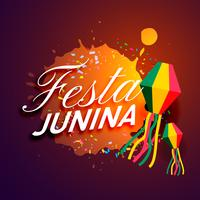 party of festa junina festival invitation card design