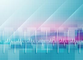Resumen de antecedentes médicos con línea de latidos del corazón