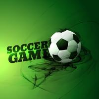 abstract football game illustration on green background