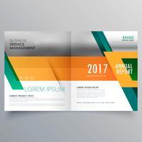 orange och grön affärs broschyr design mall
