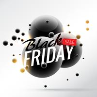 Impresionante plantilla de póster de venta de viernes negro estilo 3d