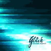 blauwe glitch vectorachtergrond voor gegevenscrash