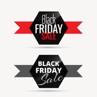 emblemas de venda sexta-feira preta com fita para promoção