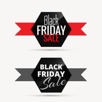 black friday sale badges with ribbon for promotion