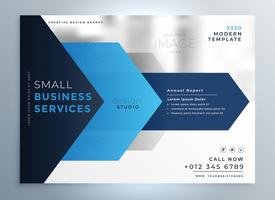 business presentation template design in blue geometric shape st