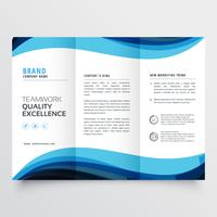 dreifach gefaltete Broschüre Designvorlage