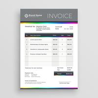 conception de vecteur de modèle de facture pour votre entreprise