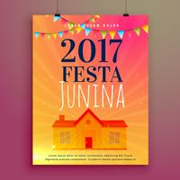 festa junina invitation card flyer design