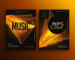 music club party flyer poster design template
