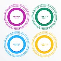 modern circle banners set background