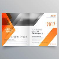 Diseño de portada de una revista de marca o plantilla de folleto bifold vec