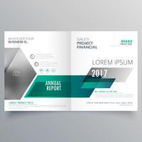 moderne tweevoudige brochure sjabloonontwerp voor uw merk
