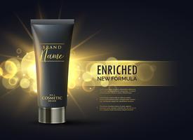 concepto de diseño de envases de productos cosméticos para la marca premium en d