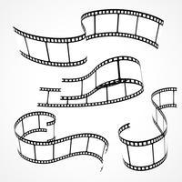 conjunto de tiras de película 3d