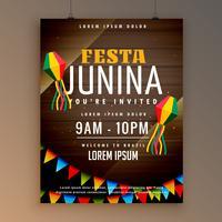 design de folheto para festa festiva de juinina