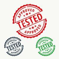 conjunto de carimbos aprovado e testado