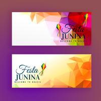 Satz von Festa Junina Banner