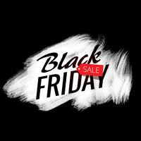 white paint stroke effect with black friday sale text