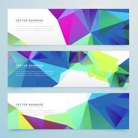 abstrakte polygonale Banner mit geometrischen Formen