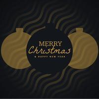 eleganter saisonaler Hintergrund der frohen Weihnachten mit hängenden Kugeln
