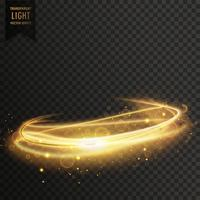 Fondo de efecto de luz transparente abstracto dorado