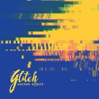 vector glitch signaal fout achtergrond in duotoon kleuren