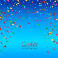fundo com vetor de confetes coloridos