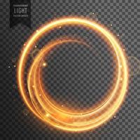 circular golden light transparent lens flare effect