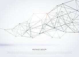 disegno di sfondo a maglia poligonale wireframe