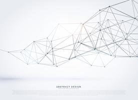 Polygonal Mesh Hintergrunddesign für Drahtgitter