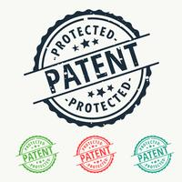 patent protected rubber stamp badge set