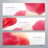 abstracte rode aquarel banner set