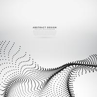 abstrakter wellenförmiger Partikel-Array-Hintergrund