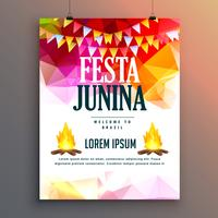 festa junina celebration party poster design background