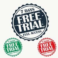 free trial stamp set