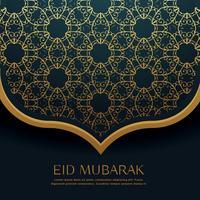 Hermosa decoración de patrón islámico para festival eid.