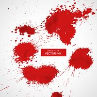 red blood splatter vector set