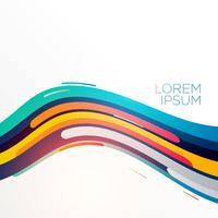 colorful elegant abstract wave backgorund vector