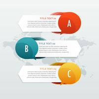 three steps options infographic web banners
